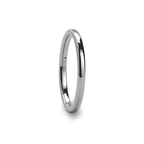 ELIZA Round Tungsten Ring - 2 mm