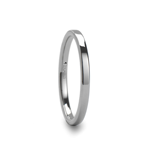 LOLA Pipe Cut Tungsten Carbide Ring - 2mm