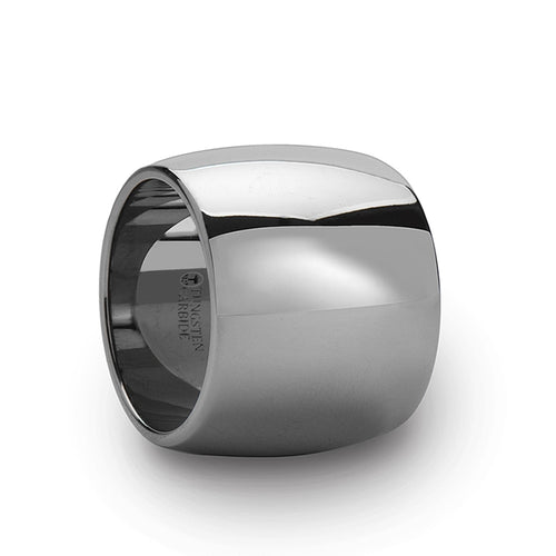 POWER Round Polished Finish Tungsten Carbide Ring - 20 mm