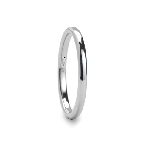 NORA Round White Tungsten Carbide Ring - 2mm - 12mm