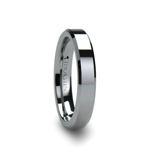 KEATON Tungsten Carbide Ring With Bevels- 4mm - 12mm
