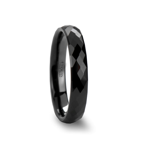OPPROBE Black Ceramic Ring with 288 Diamond Facetes - 4mm - 8mm