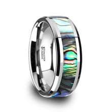 CALLISTO Tungsten Carbide Ring with Mother of Pearl Inlay - 4mm - 10mm