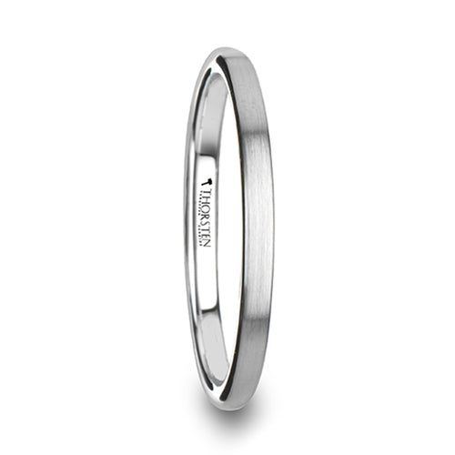 KIRA Domed Tungsten Carbide Ring with Brushed Finish - 2mm