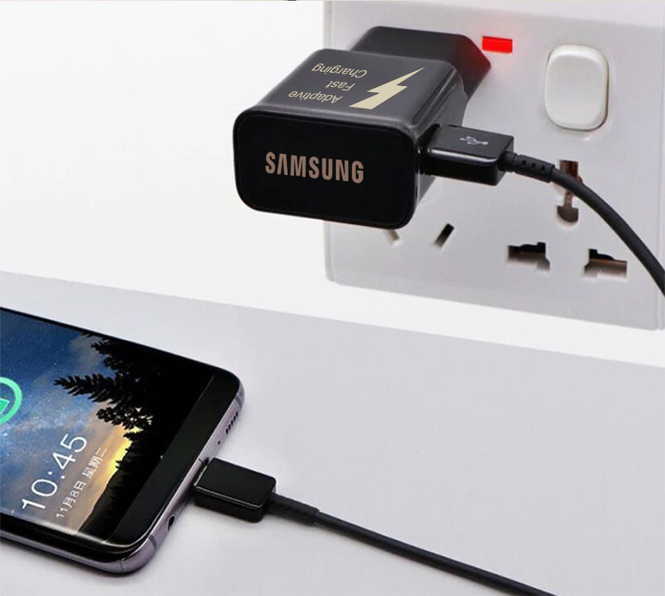 Samsung Galaxy S9 S8 S8 Plus note 8 Original Adaptive Fast Charger Tra