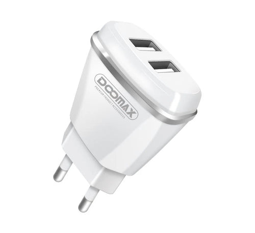 Doomax D01 Dual USB Charger 5V 2.1A For Smartphones Charger EU Plug Fast Wall Charger