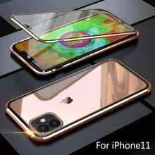 Load image into Gallery viewer, Double-sided Magnetic Absorption Metal Case for iPhone X/XS, iPhone Xs Max & iPhone XI - TOBS