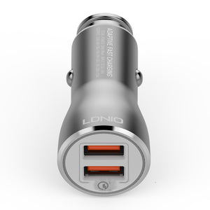 LDNIO C407Q 2 USB Port Phone Car Charger