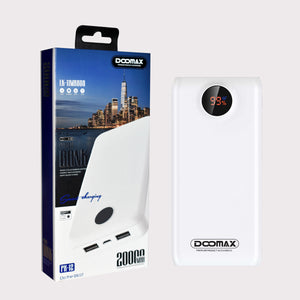 Doomax PX-12 20000mAH Universal Power Bank USB 2.0 Smart Charging - TOBS