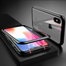Load image into Gallery viewer, Magnetic Absorption Metal Double-sided Tempered Glass Protective Case For Smartphones - TOBS