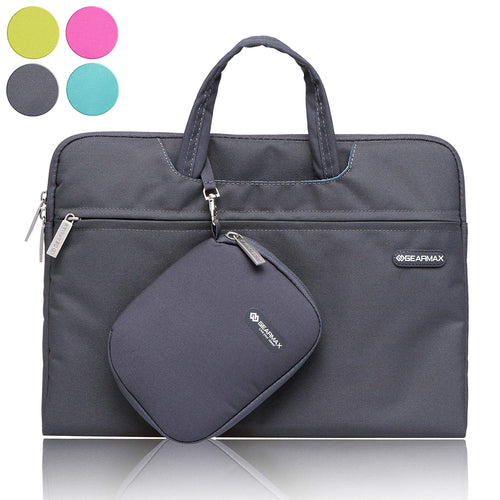 Gearmax Premium Waterproof Ultrathin Sleeve Laptop Messenger Bag Shockproof case for MacBook Air Pro/Dell / Others (Grey and Black Color,Fits Upto 15.4 inches)