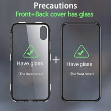 Load image into Gallery viewer, Privacy Magnetic Case for iPhone, Anti Peeping Clear Double Sided Tempered Glass 360 Full Protective Phone