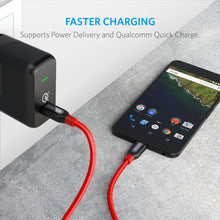 Load image into Gallery viewer, Anker A8187 Powerline+ USB C to USB C Kevlar Quick Charge 3.0 5Gbps Cable - TOBS