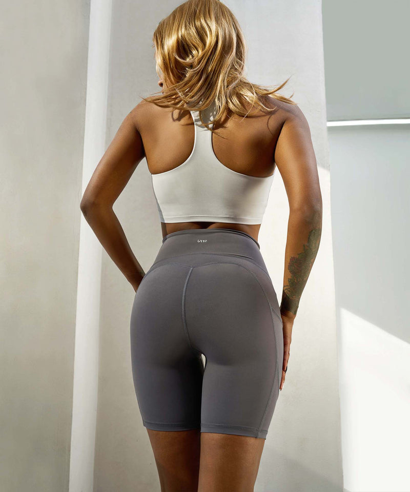 Bum Sculpt Seam Detail Cycling Short with Side Pockets