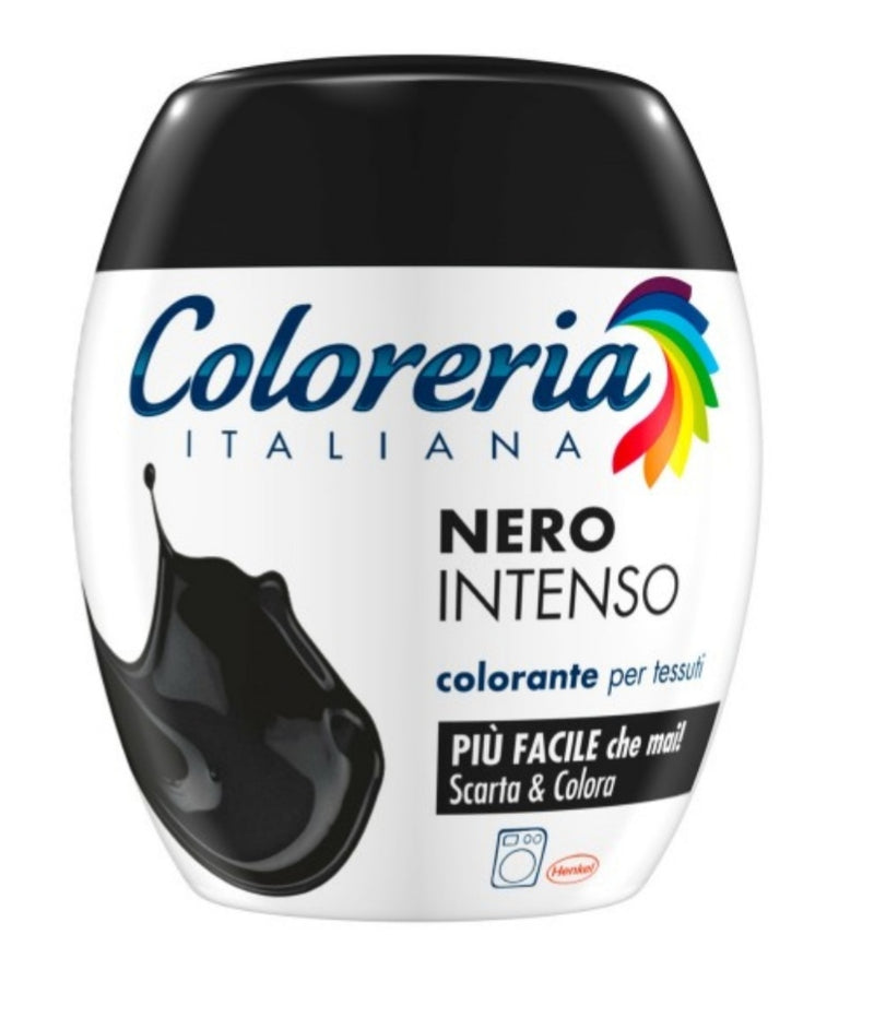 COLORERIA ITALIANA NERO INTENSO COLORANTE PER TESSUTI