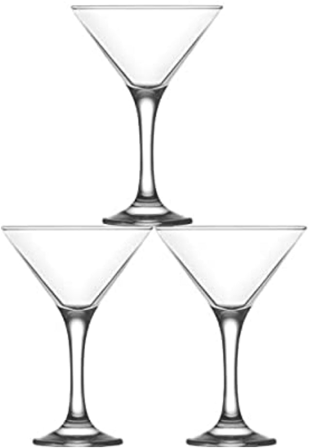 Set  3 Bicchieri Da Martini Cocktail  Misket 175ml