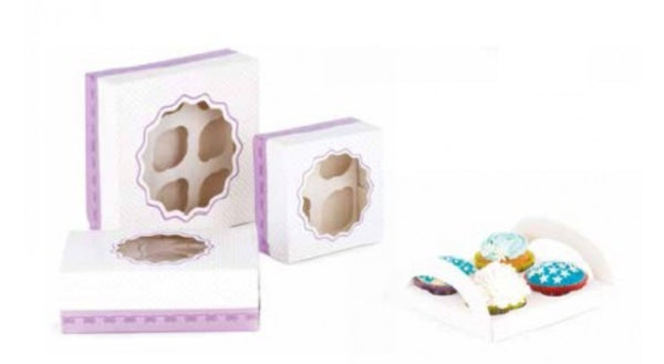 DECORA Set 3 scatole e vassoi porta muffin