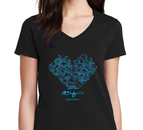 WOP Heart Women's V-Neck Tee - Beefy & Co.