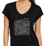World of Poos Women's V-Neck Tee - Beefy & Co.