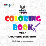 World of Poos Coloring Book Vol.1 PREORDER - Beefy & Co.