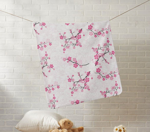 WOP Cherry Blossom Fleece Baby Blanket - Beefy & Co.