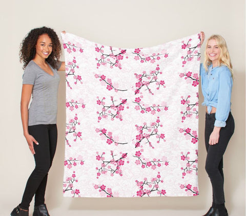 WOP Cherry Blossom Med Fleece Blanket - Beefy & Co.