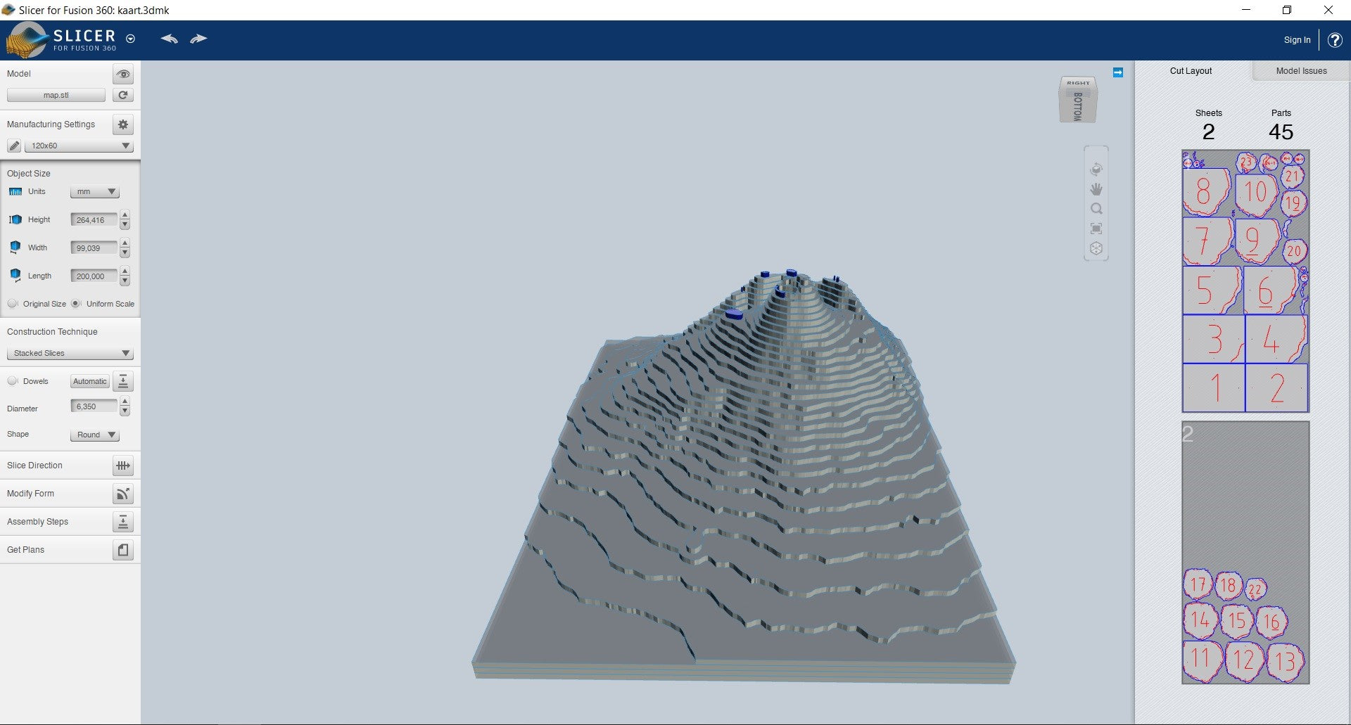 Slicerforfusion 3D map