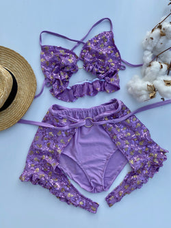 Create Your Own - Keyhole Bralette, Chap Short and Bloomers Set