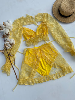 Create Your Own - Laura Lace Top, Wrap Skirt and Bloomers Set