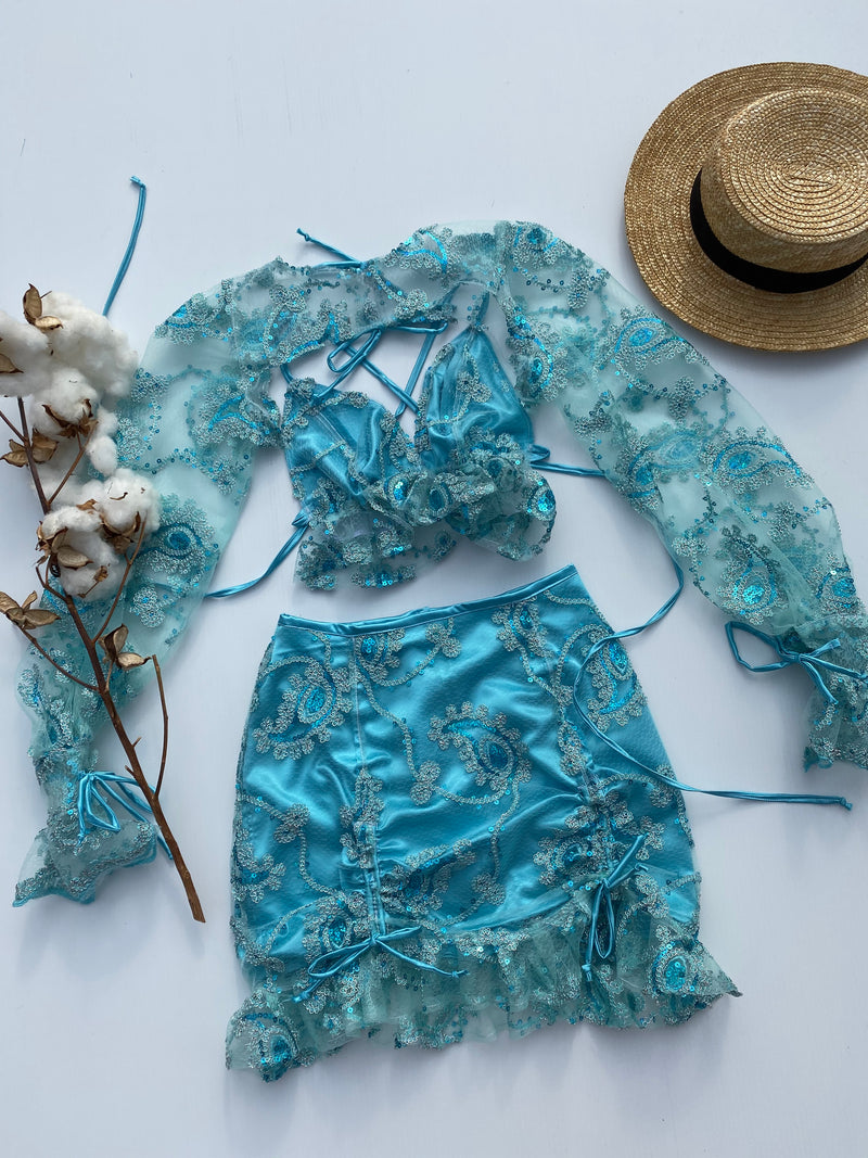 Create Your Own - Laura Lace Set and Drawstring Skirt