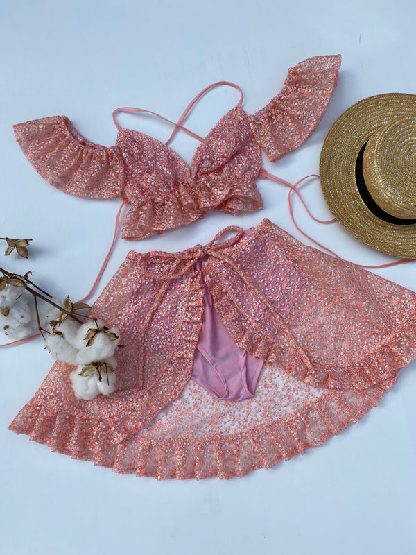 Create Your Own - Butterfly Crop, Wrap Skirt and Bloomers Set