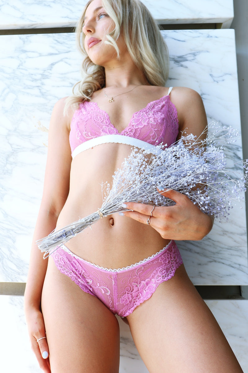 Stretch Musk Bralette and Underwear Set