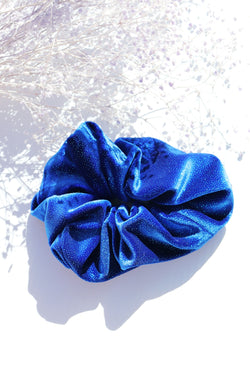 Shimmer Royal Blue Scrunchie