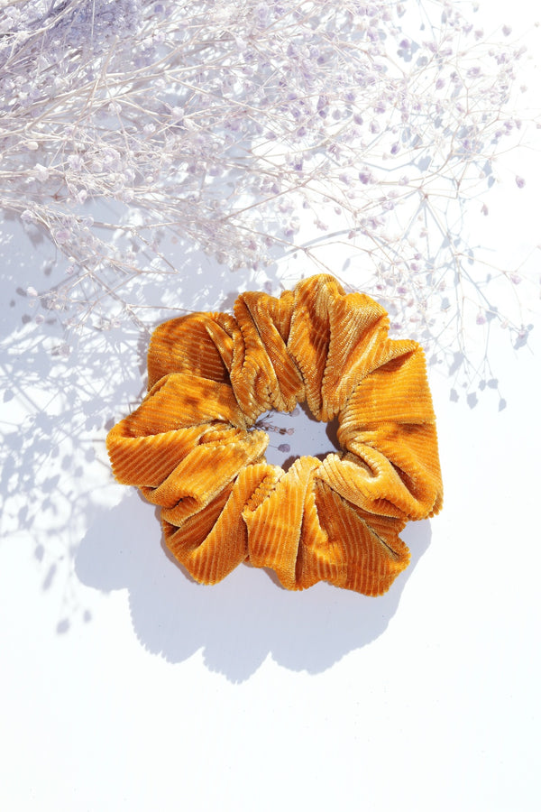 Yellow Cord Scrunchie