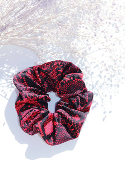 Red Snake Scrunchie