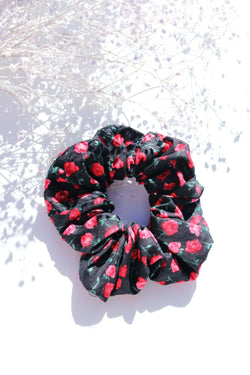 Black Rose Scrunchie