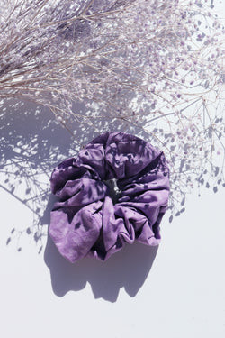 Purple Pineapple Scrunchie