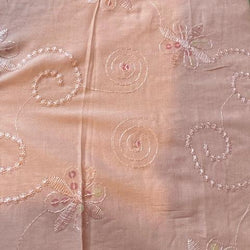 Pink Sequin Embroidered Cotton