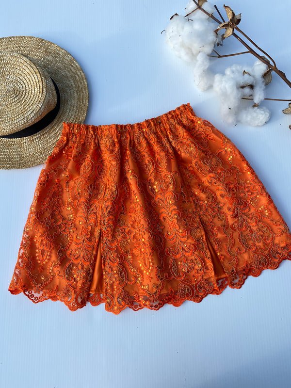 Create Your Own - Double Split Skirt - Lace