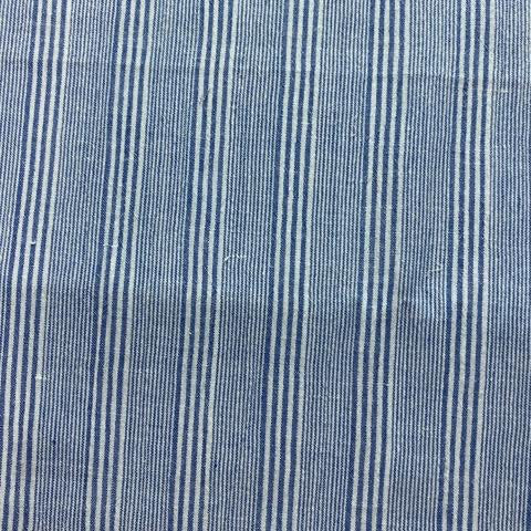 Multi Stripe Blue Cotton