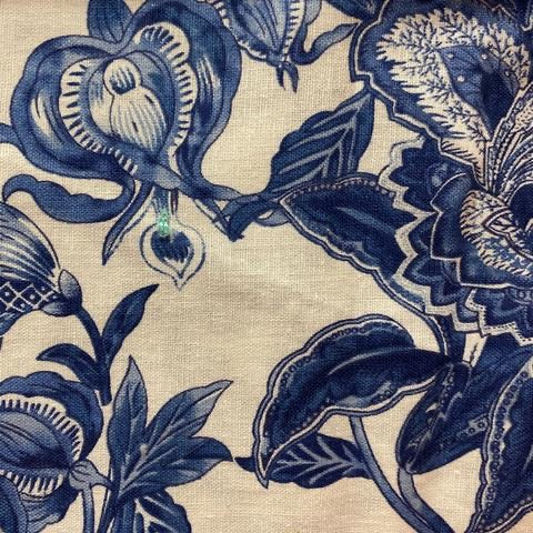 Blue Floral Cotton