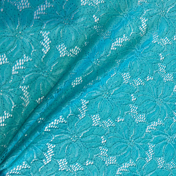 Shimmer Aqua Stretch Lace