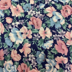 Vintage Dark Floral Cotton