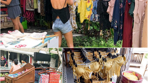 Bali offers unique shopping options. Explore markets, garage sales or boutique shopping.
