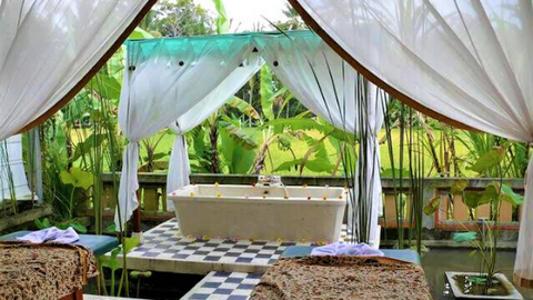 Massage overlooking rice fields is a traditional, authentic Balinese treatment worth a try.