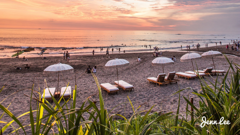 Canggu is popular as a place for Bali's digital nomads