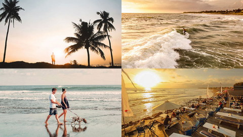 Canggu is the perfect place for all different kinds of daily activities at the beach, whether you fancy surfing or watching the sunset.