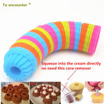 12 Piece & 36 Piece 3D Cup Cake Silicone Molds