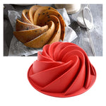 9.75 inch Spiral Silicone Bundt Cake Pan