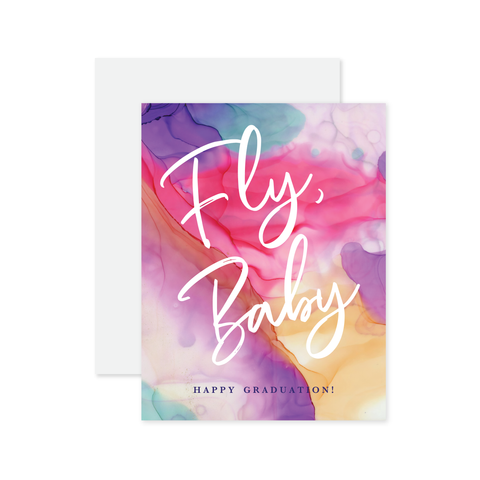Fly Baby Graduation Card